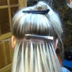 Наращивание волос. Шаг 1