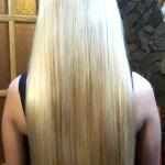 Наращивание волос. Результат