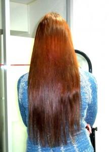 Рыжие наращенные волосы