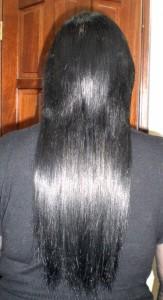 Черные наращенные волосы
