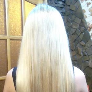 Светлые наращенные волосы