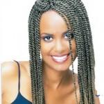 Канекалон для плетения афрокосичек. Результат