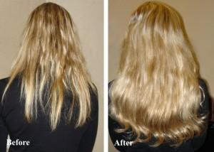 Наращивание волос ультразвуком - отличный результат!